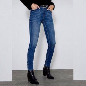 New! Zara Premium Denim Dark Wash Skinny Jeans 2